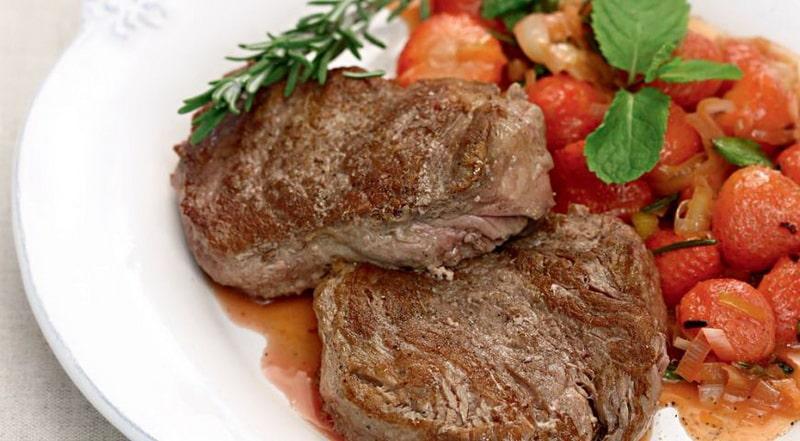 Клубника и мясо