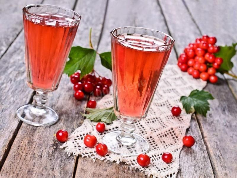 Водка на ягодах калины