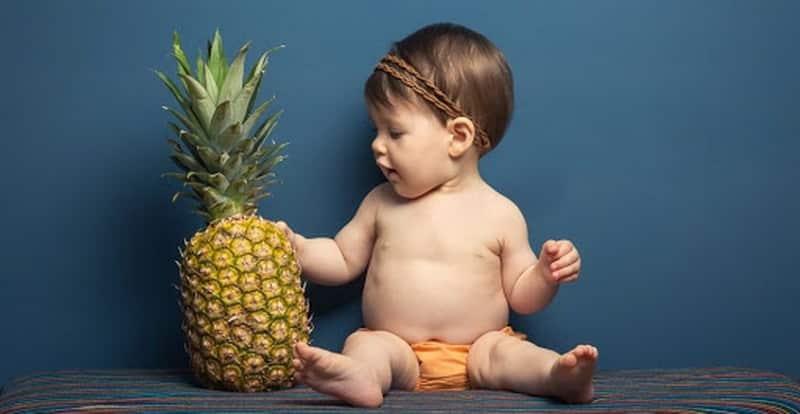ананас в рационе детей